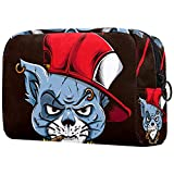 Gánster Cat con tapa roja bolsa de cosméticos, bolsa de aseo de viaje, bolsa de negocios, impermeable