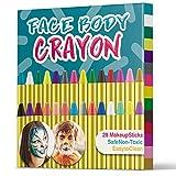 MUSCCCM Pintura Facial Ninos, 28 Colores Pintura Lápices de Colores Body Pintura Corporal Non Tóxica Lápices de Colores para Niños, Niños Pequeños, Navidad, Fiesta de Cumpleaños