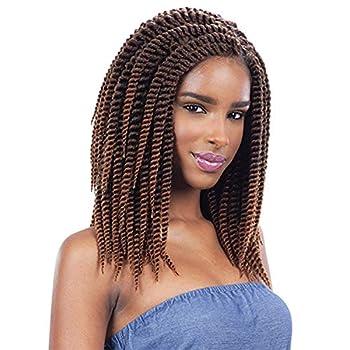Milkyway Q Synthetic Hair Crochet Braids 2X Jumbo Senegal Twist 10   6-Pack 1B