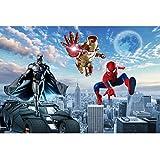 Kinderzimmer Tapete Schlafzimmer Karikatur Cartoon Wand, Die Eisen Man Wandbild 3d Spiderman Liga Rächer Tapete Breite 280cm * Height180cm pro