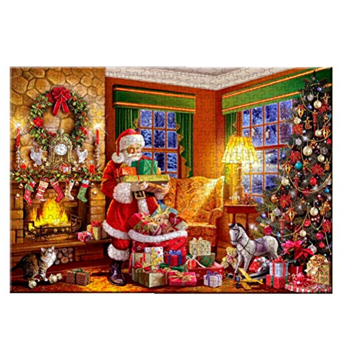 YEKKU 1000 Stück Puzzle, Weihnachten Santa Puzzle für Erwachsene Übung Gedächtnisspiel Stress abbauen Puzzles Santa Claus Puzzle Spielzeug
