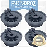165314 (4-Pack) Lower Dishrack Wheel for Bosch Dishwashers by PartsBroz - Replaces 00165314, AP2802428, 00420198, 420198, 423232, AH3439123, EA3439123, PS3439123, PS8697067