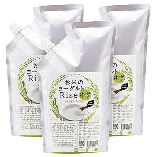 ヤサカ アレルノン食品 リセ ゆず味 お米のヨーグルト 500g×3 発酵食品 乳酸菌 加糖 ゆず 国産 滋賀