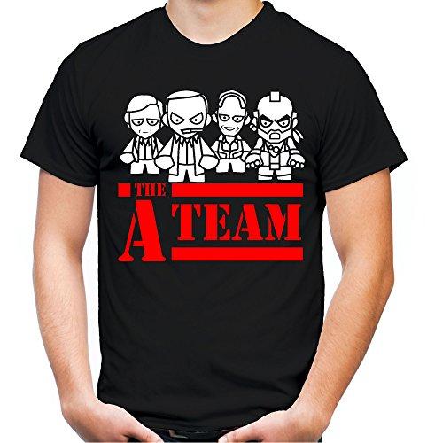 Desconocido A-Team - Camiseta para Hombre y Hombre, diseo con Texto Hannibal B. A. Regalo M3. Negro XXXXL