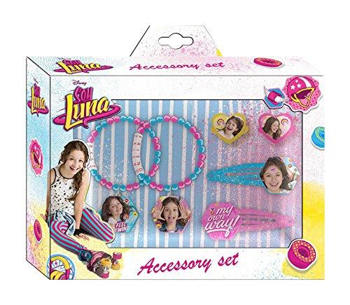Set accesorios pelo frozen en caja de Soy Luna