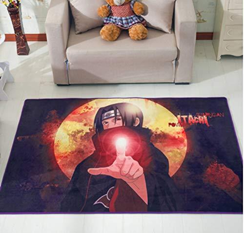 zzqiao Tapis Tapis Antidérapants Anime Cartoon Naruto Enfants Chambre Chambre Chevet Salon Chambre Personnalité Mignonne Créative 80 * 120 Cm