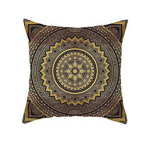 Throw Pillows Case Cojines Marrones Lino Decorativo Funda cómoda Cojín Funda de cojín geométrica Funda de Almohada para el hogar, 27,450 * 450 mm