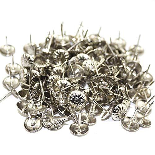 eginvic 1000 stücke Reißnägel, Chrysantheme Muster Reißnägel Möbel Dekorative Reißnägel Push Pin Für Sofas, Betten, Schränke (Gold, Silber, Bronze, Kupfer) Portable