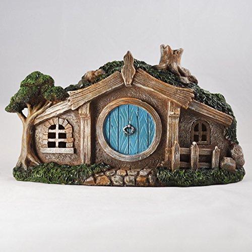 Fairy Garden UK Hobbit Cottage LED-Lichter, Mystischer Garten, Innendekoration, 28 cm