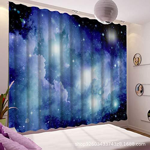 qcl3d Vorhänge Vorhang Gardinen Blackout Curtains_Exquisite Schlafzimmergardinen gedruckt 3D Digitaldruck Schattierung hohe Präzision, Breite 150x hoch 166 (Zwei Teile)