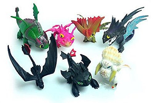 Max Fun Set of 7 Pcs How to Train Your Dragon Night Fury Toothless Action Figures Child Toys Cake Toppers