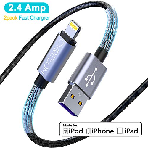 【Apple MFi Certified】 iPhone Charger High Fast//Data Sync 10Feet iPhone Charging Cable Lead for iPhone 11//11Pro//11Max//XS//XR//XS Max//8//7//6//5S//SE iPad CABEPOW 2Pack 3M Extra Long Lightning Cable 10ft