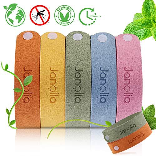 Janolia Citronella Armbänder 12 Stück, Pflanzlichen Öl Einstellbare Armband Verstellbar für Erwachsene und Kinder, Perfekt für Camping, Wandern, Reisen