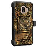 MINITURTLE Compatible with Samsung Galaxy J2 Core, Samsung Galaxy J2 Pure, Samsung Galaxy J2 Dash, J2 (2019) Hard Shell Cover Hybrid Case Kickstand with Holster Clip [Clip Armor] - Deer Hunting Camo