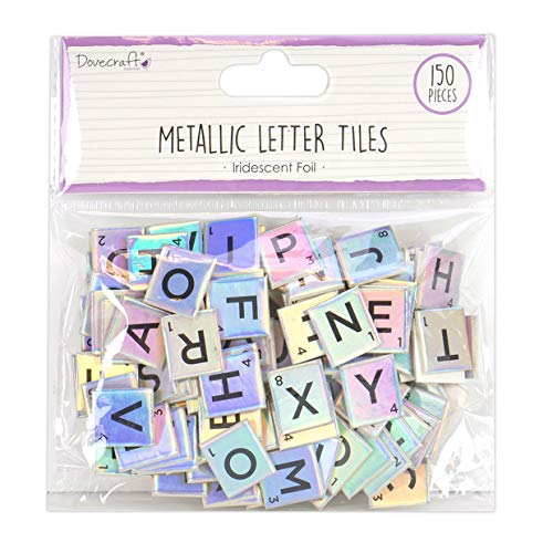 Dovecraft Dcbs226 Chipboard Letter Tiles, Multicolor, One Size