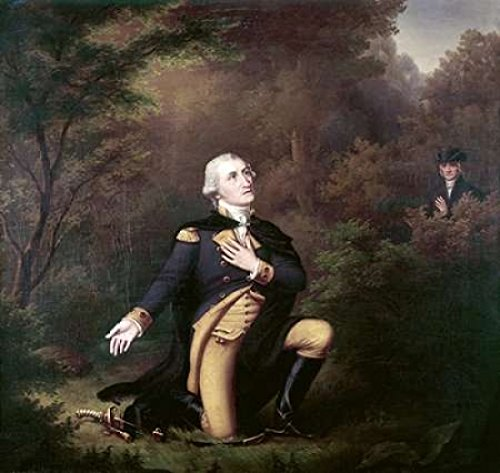 Posterazzi George Washington In Prayer at Valley Forge Poster Print by Paul Weber, (12 x 12)