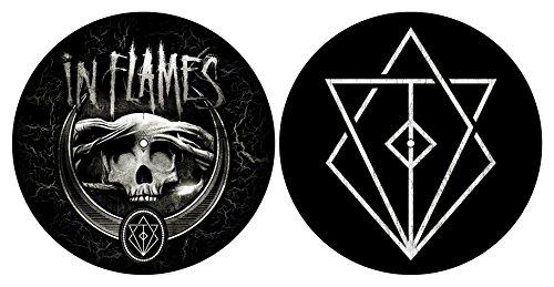 IN FLAMES DJ SLIPMAT FILZMATTE FÜR Plattenspieler Turntable Battles Logo