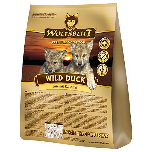 Wolfsblut | Wild Duck Puppy Large | 15 kg | Ente | Trockenfutter | Hundefutter | Getreidefrei