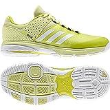 adidas Court Stabil W, Chaussures de Handball Femme, Jaune (Ice Yellow/FTWR White/Utility Black), 42 2/3 EU