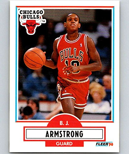 Basketball NBA 1990-91 Fleer #22 B.J. Armstrong #22 NM RC Rookie Bulls