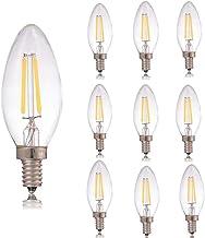 SGJFZD E14 LED Filament Candle Bulb, DC 3V 100ma 200ma 280ma 380ma,Warm White 180LM 20W Equivalent,C35 Clear Glass for Sol...