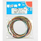 サンコー電商 SHW耐熱ビニル絶縁電線 黒白赤黄緑青橙 各2m AWG32(相当) 2m <7色> SHW 7/0.08 2m×7色