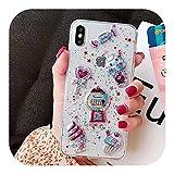 3D漫画グリッター流砂 Ricece電話ケースFor iPhone 11プロマックスケースX XS MAX XR 6 7 8プラスアイスクリームキャンディソフトTPUカバー-Style 4-For iPhone 11Pro max