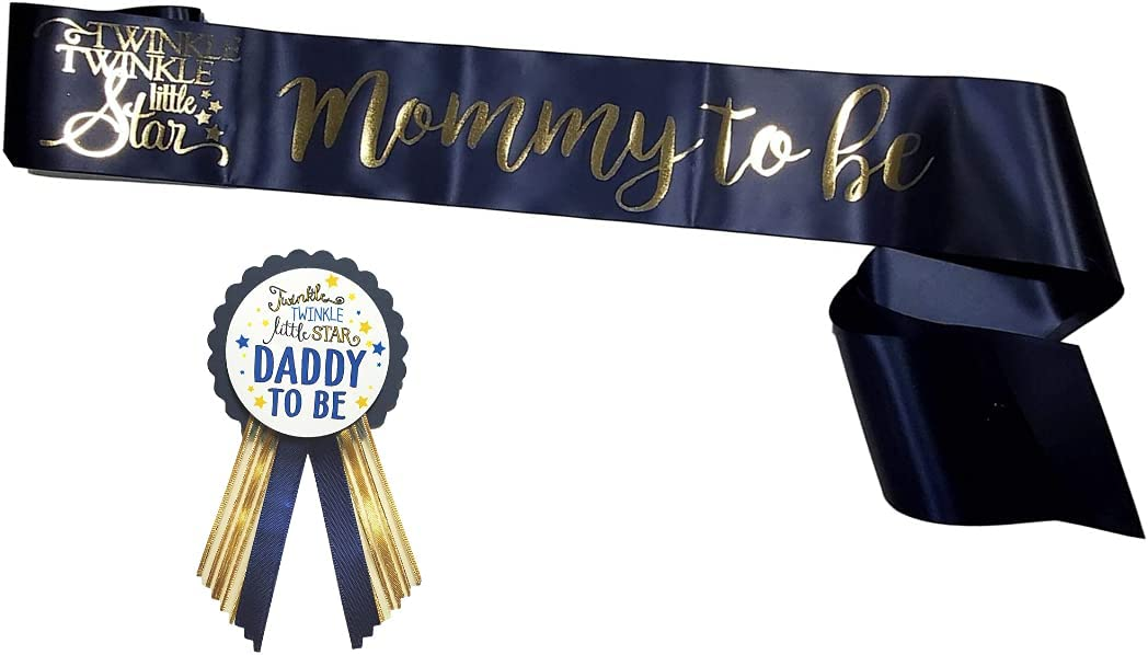 Twinkle Little Star Baby Shower Mommy Be Daddy to Nav Sash Pin Max 59% OFF Store
