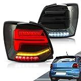 VLAND LED Feux arrières Pour Polo MK5 6R 6C 2009-2018 Feu arrière avec indicateur séquentiel LHD UK Inventaire (Lentille fumée)