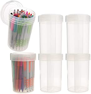 Advantus Corp (6 Pack) Plastic Storage Containers with Dividers, Slime Containers with Lids: Desk Organizer, Craft Organizer Set