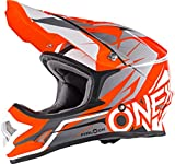 0626-204 - Oneal 3 Series Freerider Fidlock Motocross Helmet L Matt Orange Gray
