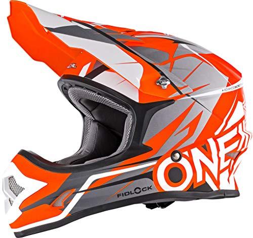 O\'NEAL 3 Series Freerider Fidlock Motocross Enduro MTB Helm orange/grau 2018 Oneal: Größe: M (57-58cm)