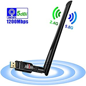 1000MW Wifi Network Long Range 802.11 B//N//G 300M USB Wireless Adapter+2x Antenna