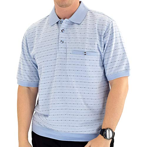 Classics by Palmland Short Sleeve Polo Shirt 6191-411 Big and Tall - Light Blue (2X, Light Blue)