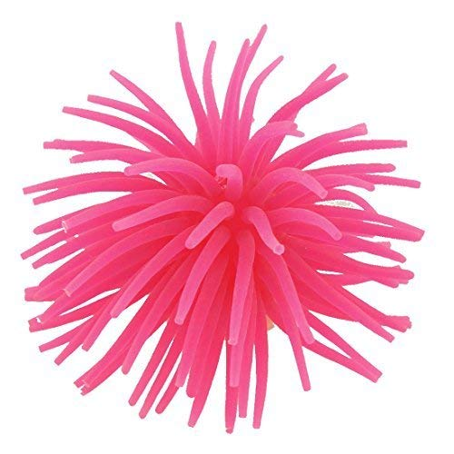 CHUNSHENN Safe Non-toxic Silicone Coral Shaped Fish Tank ornamento Artificial, Hot Pink Decorative Architecture