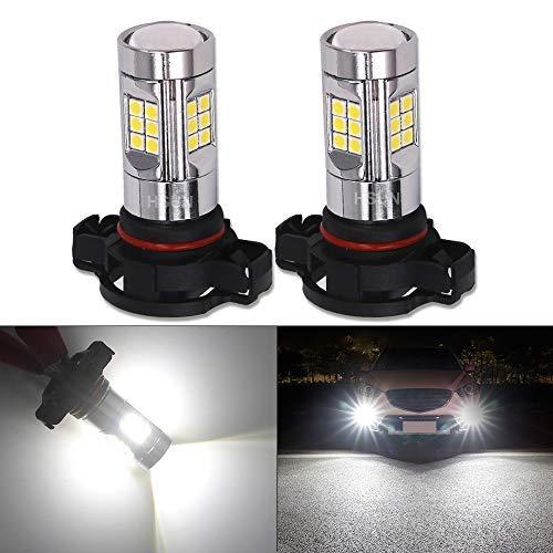 HSUN H16 5202 PS19W lampadine LED, sistema Canbus senza errori con chipset 30LED-SMD3030 estremamente luminose, 12 V-24 V per fendinebbia auto e molto altro ancora, 2 pezzi, 6000 K, bianco