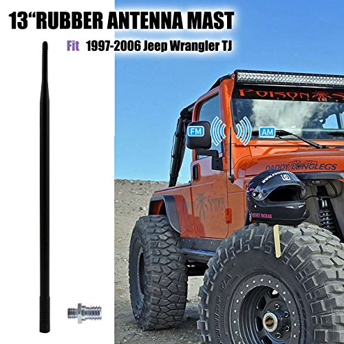 BOXATDOOR Antena amplificada 6 mm Jeep Wrangler