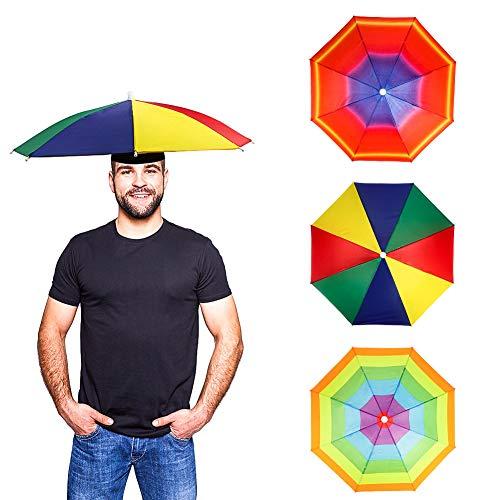 yamysalad Paraplu Hoed 50cm Diameter Elastische Hoofddeksels Paraplu Hoed, Paraplu Pet Handen Gratis Hoofddeksels