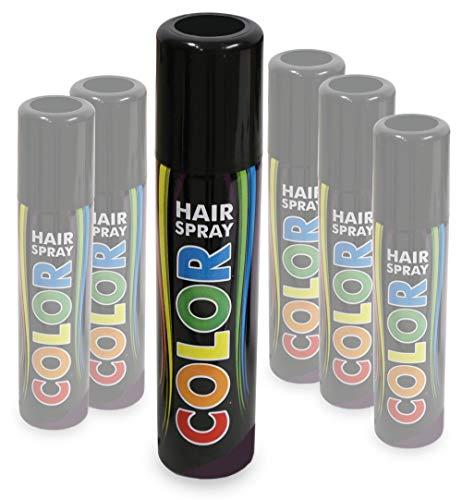KarnevalsTeufel Hairspray Color buntes Haarspray Haarschmuck farbig (Schwarz)