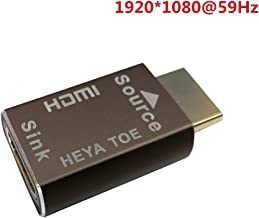 HDMI Pass-Through EDID Emulator for use with Video splitters, Switches and Extenders (fit-Headless) 1920X1080@59hz-Brown