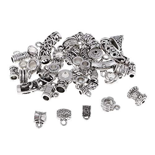harayaa 40 Piezas Multi-Estilos Aleación Conector Espaciador Bail Beads Colgante Fabricación de Joyas
