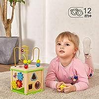 Top Bright - Cubo giocattolo multi-attività per bambini di 1 anno di età, giocattoli in legno per bambini di 12 mesi, regalo di compleanno #1