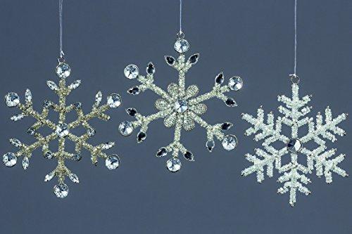 3 x Hänger Schneeflocke D14cm Sortiert Winterliche Fensterdekoration Weihnachtsdeko