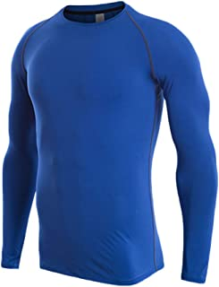 comprar comparacion Camiseta De Compresiòn Camiseta Térmica Interior Hombre Manga Larga para Running Fitness Entrenamiento