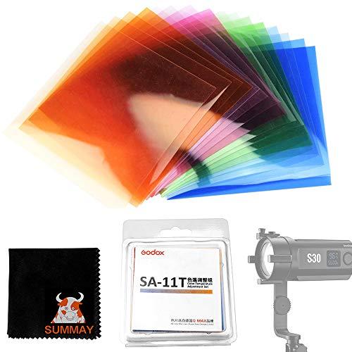 GODOX SA-11T Kit di regolazione della temperatura del colore del filtro colorato per Godox S30 Effetti di messa a fuoco per illuminazione video a LED