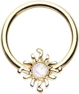 Covet Jewelry UV Acrylic Rasta Single Flare Plug