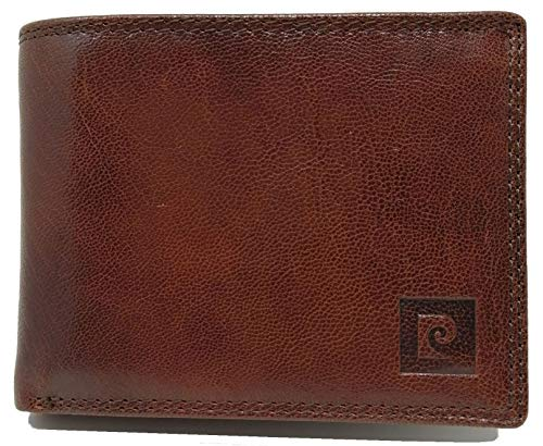 PIERRE CARDIN Cartera para hombre, fina, fina, fina, para hombre, pequeña y fina rfid, regalo, cartera con monedero, fina, billetera para niño