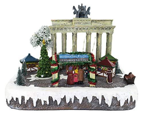 Paisaje navideño de Berlín con Movimiento, Luces y música - 30 x 23,5 x 25 cm