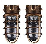 2 Packungen Schiffsleuchten Gitter Lampe, Aluminium Nautische Marine Boot lampe, Retro Industrielle Wandlampe Wasserdichte Wandleuchte, Für Badezimmer Küche Treppen Außenwandleuchten Innenbeleuchtung
