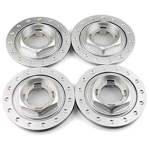 Tapas Para Llantas 4pcs 150mm 101mm Customer Center Center Custor Auto Accessorie Fit for 09.23.264 09.24.137 Cubierta de llanta ABS Tapas de cubo de rueda (Color : Silver)